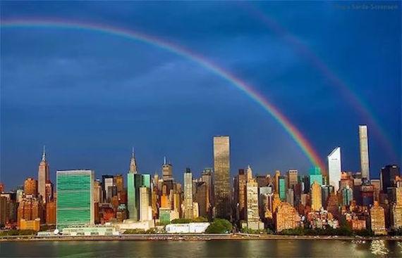虹とニューヨーク