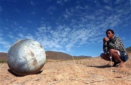 Space-debris-A-metal-ball-001