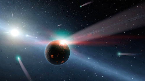 Comet-raining-comets-Earth-bombardment-NASA-JPLCaltech