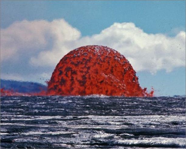 ハワイのキラウエア火山に対して...